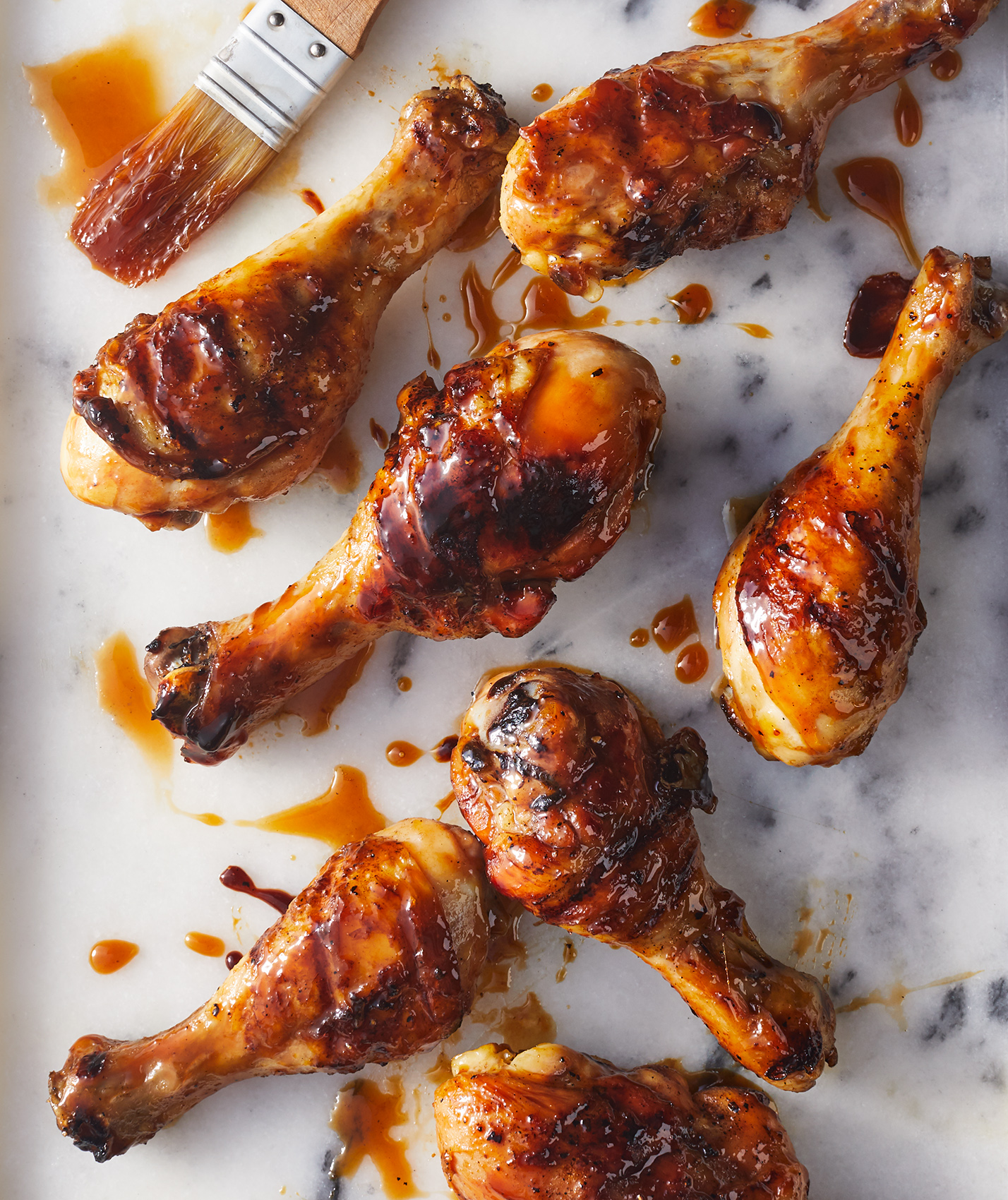 Tea Glazed Drumsticks grilled