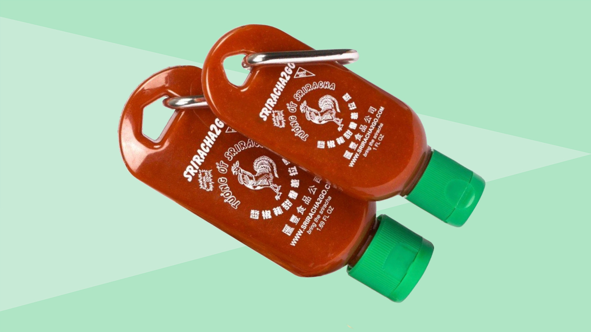 Father's day gifts ideas - sriracha to go bottles