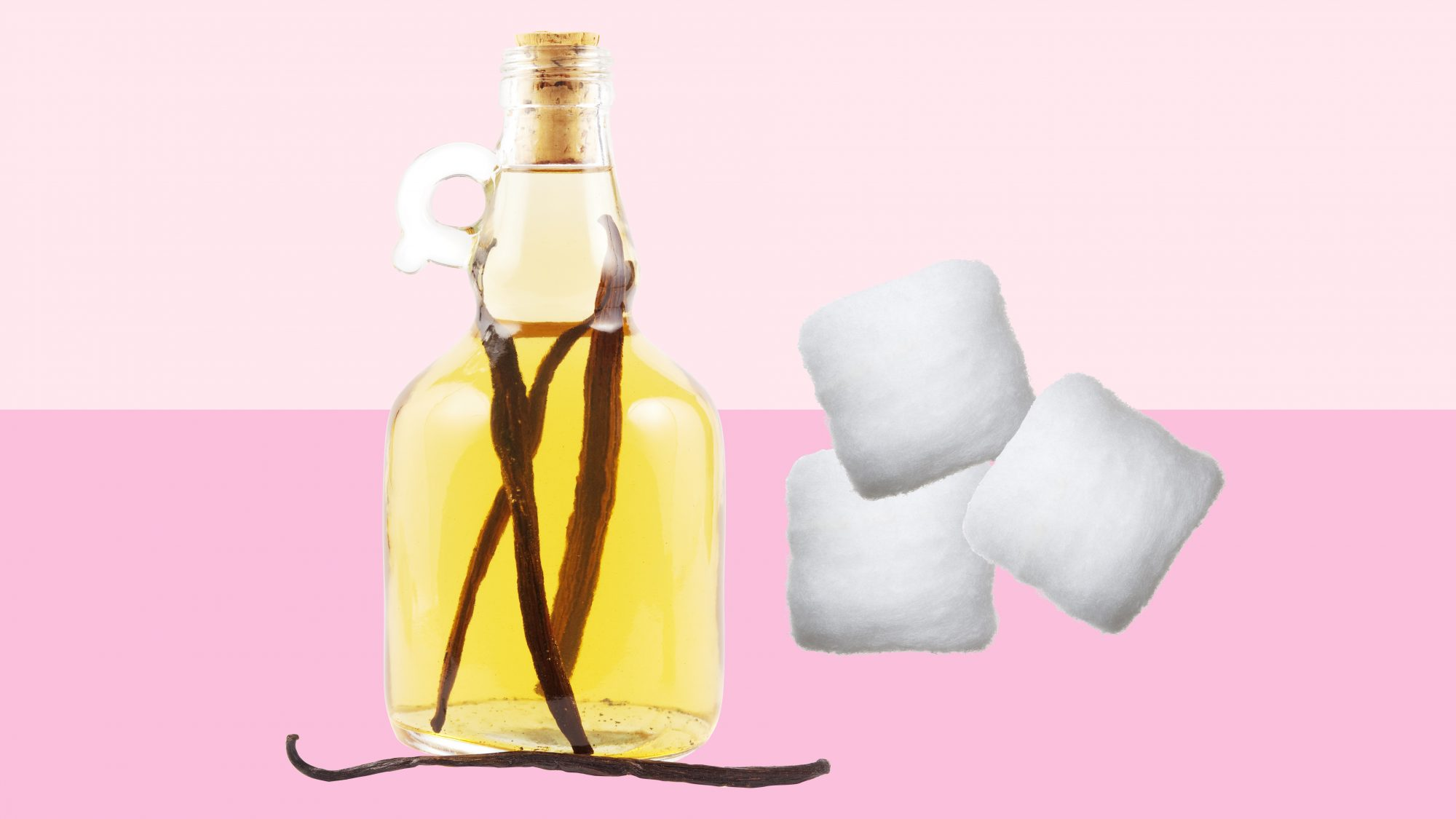 make home smell good, using vanilla and cotton ball
