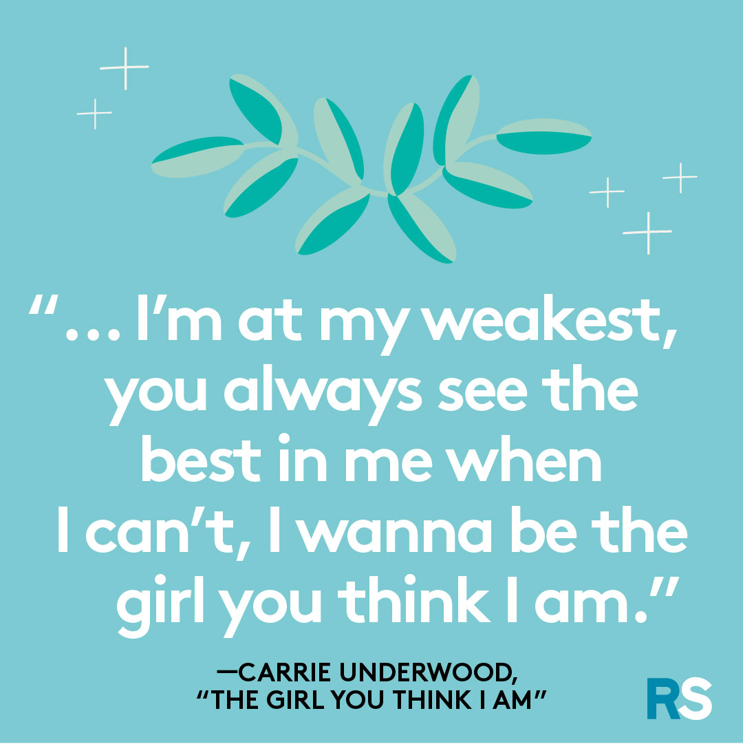 Father's Day dad quotes, captions – Carrie underwood, the girl you think i am