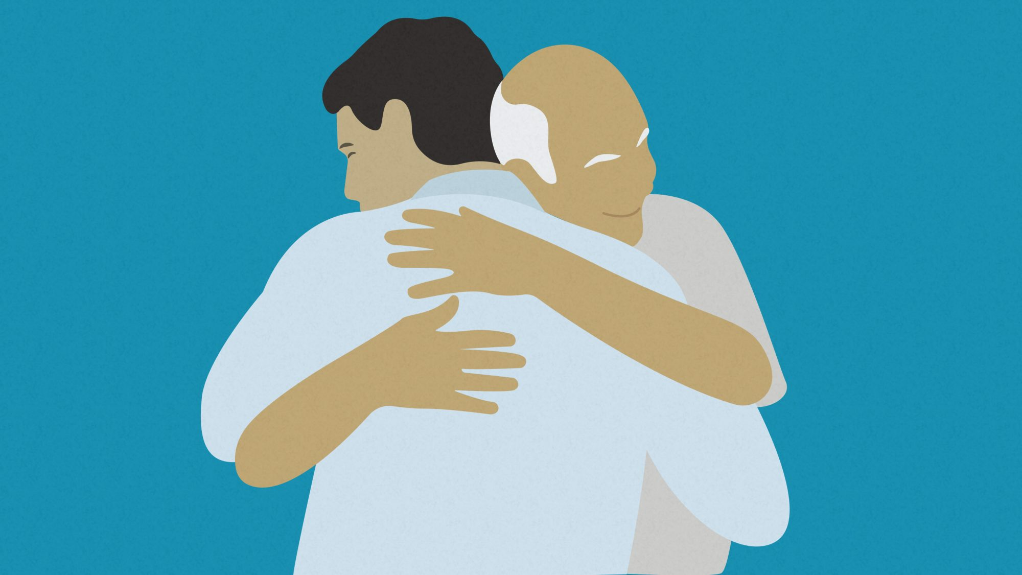 Father's day quotes - dad quotes from son (father and son hugging)