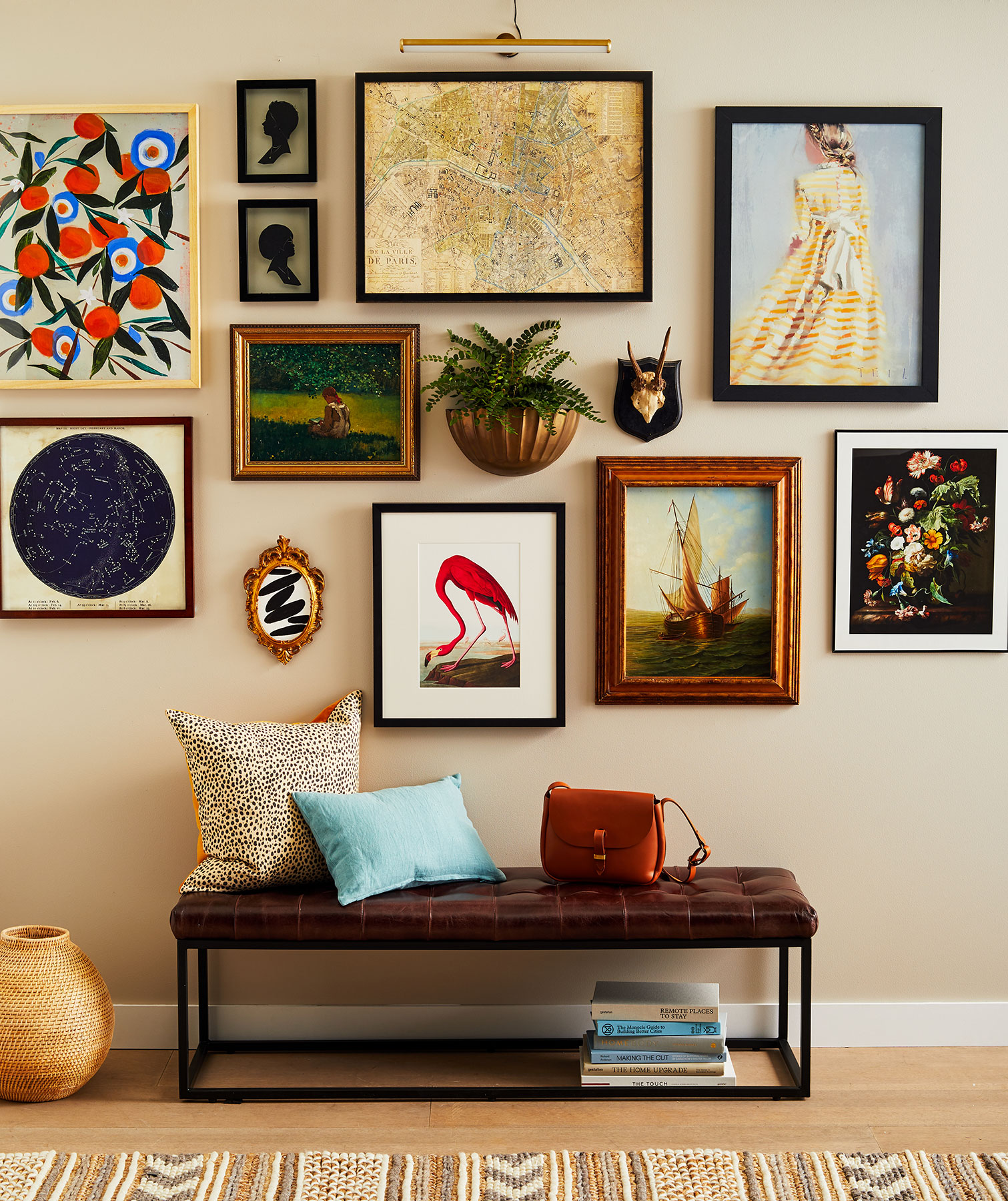 Gallery Wall Ideas: Eclectic