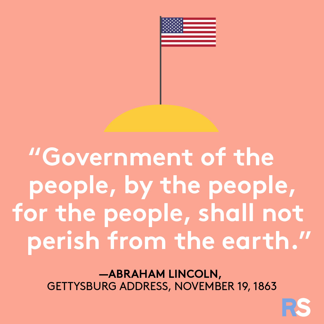 Fourth of July/July 4th Patriotic Quotes, Captions, and Sayings - Abraham Lincoln, Gettysburg Address
