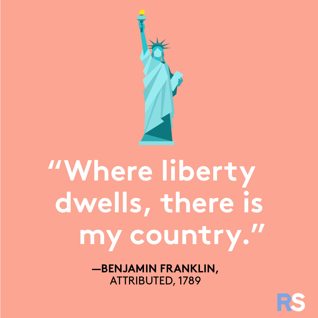 Fourth of July/July 4th Patriotic Quotes, Captions, and Sayings - Benjamin Franklin