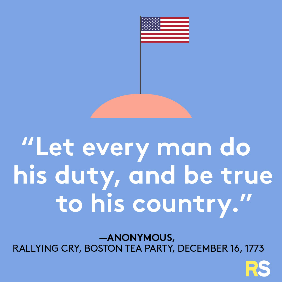 Fourth of July/July 4th Patriotic Quotes, Captions, and Sayings - Anonymous, Boston Tea Party