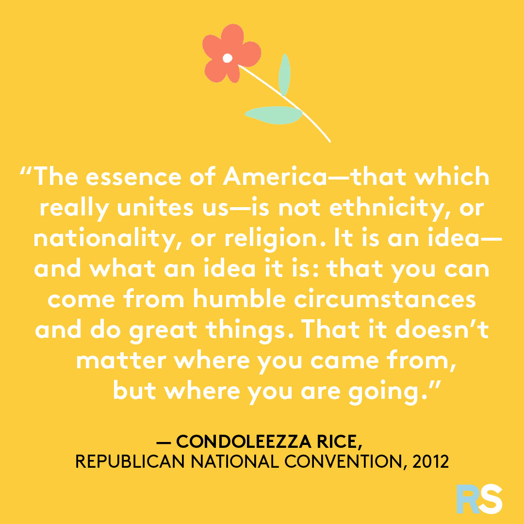 Fourth of July/July 4th Patriotic Quotes, Captions, and Sayings - Condoleezza Rice