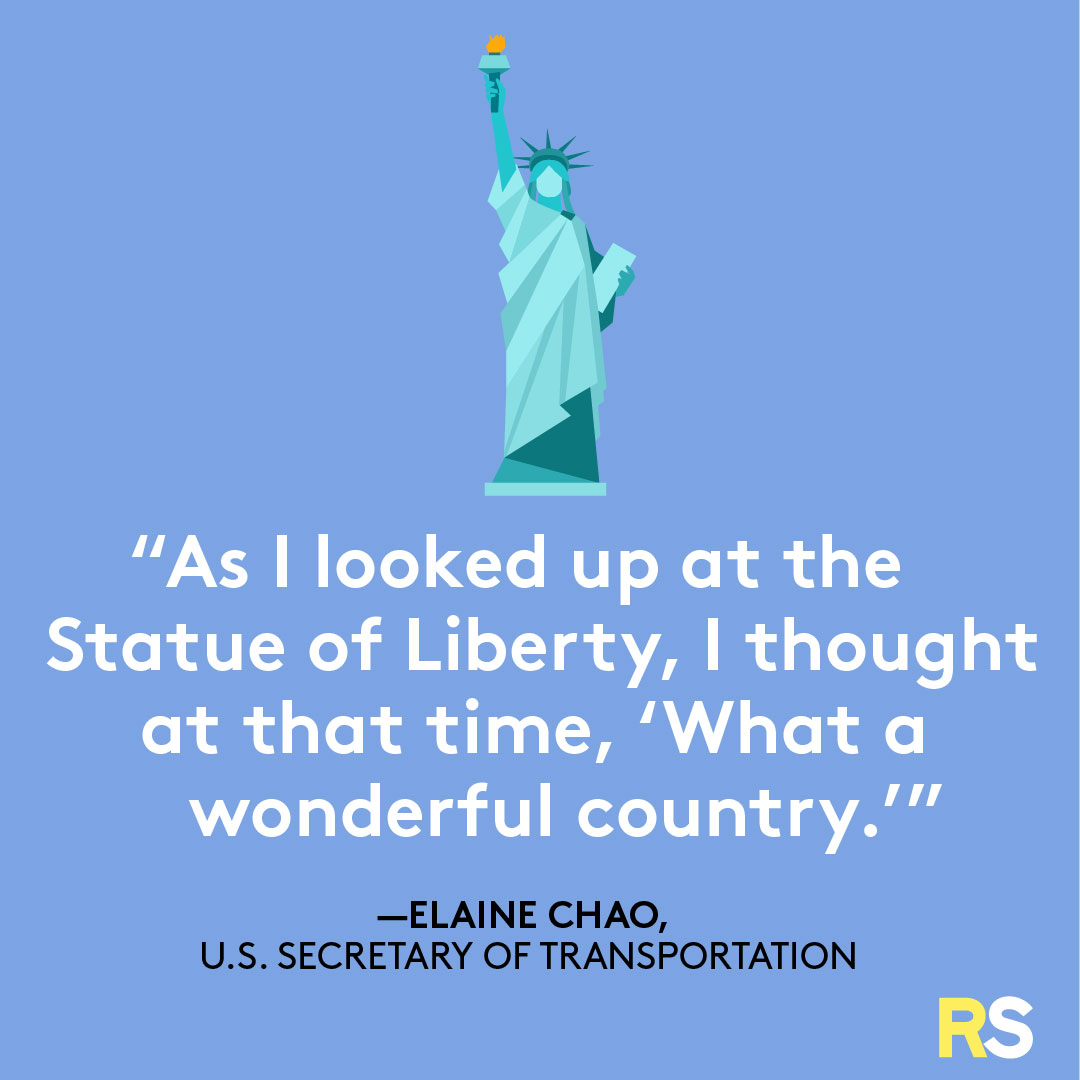 Fourth of July/July 4th Patriotic Quotes, Captions, and Sayings - Elaine Chao