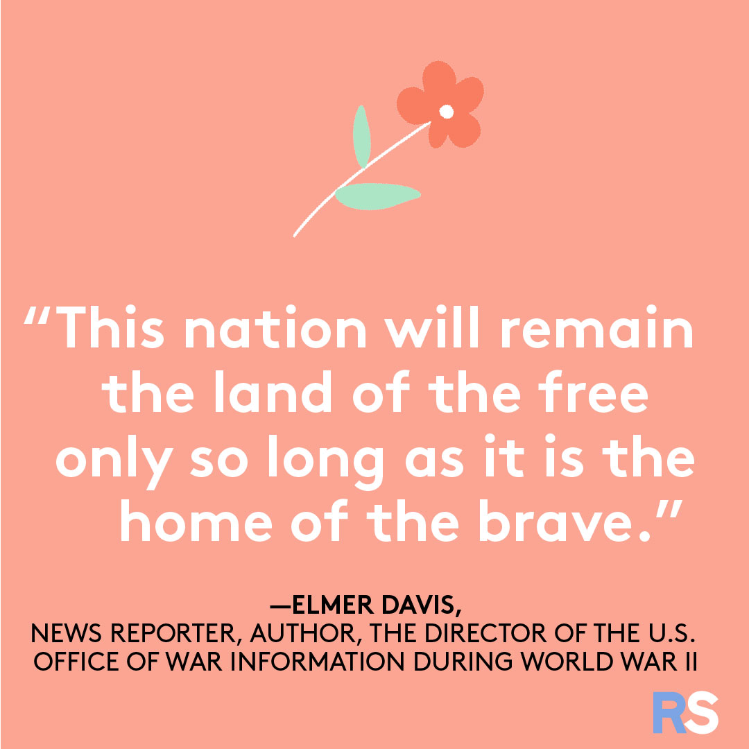 Fourth of July/July 4th Patriotic Quotes, Captions, and Sayings - Elmer Davis