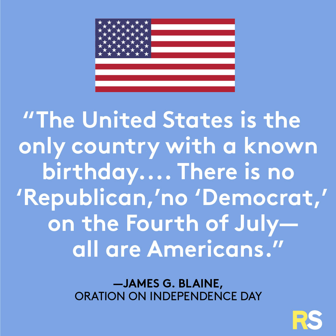 Fourth of July/July 4th Patriotic Quotes, Captions, and Sayings - James G. Blaine