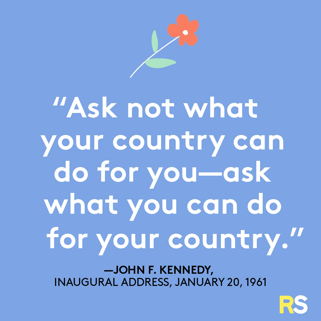 Fourth of July/July 4th Patriotic Quotes, Captions, and Sayings - JFK