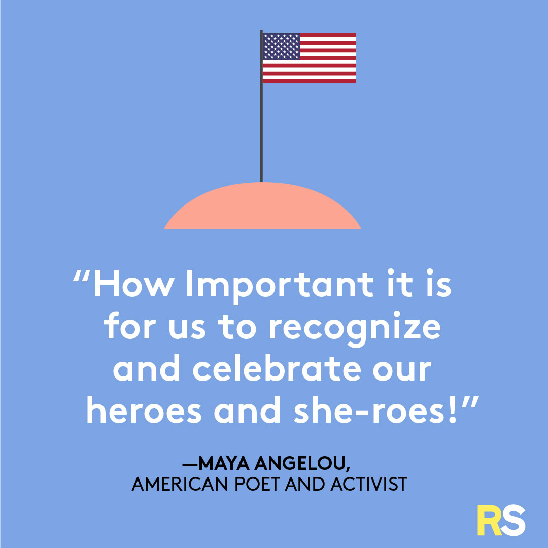 Fourth of July/July 4th Patriotic Quotes, Captions, and Sayings - Maya Angelou