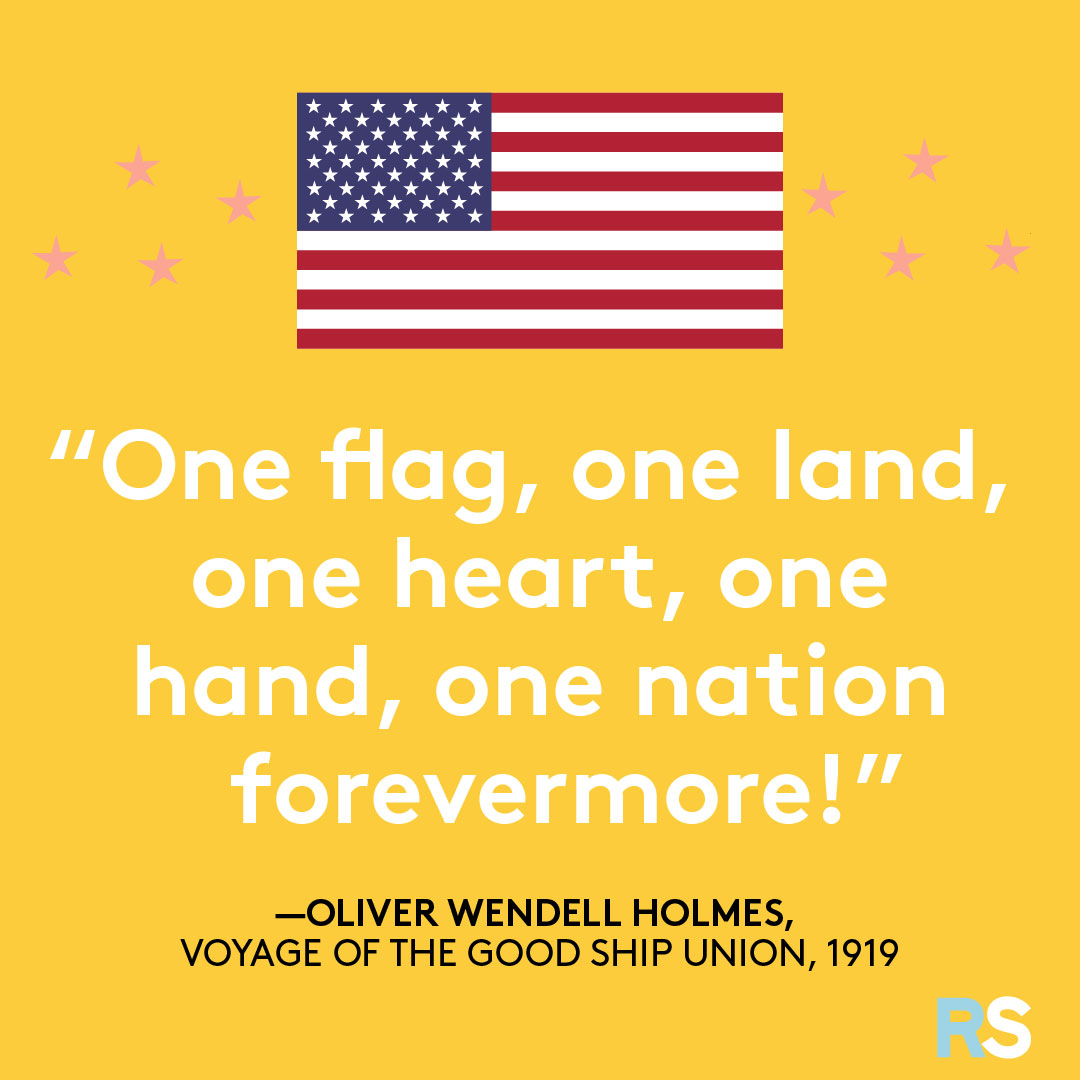 Fourth of July/July 4th Patriotic Quotes, Captions, and Sayings - Oliver Wendell Holmes