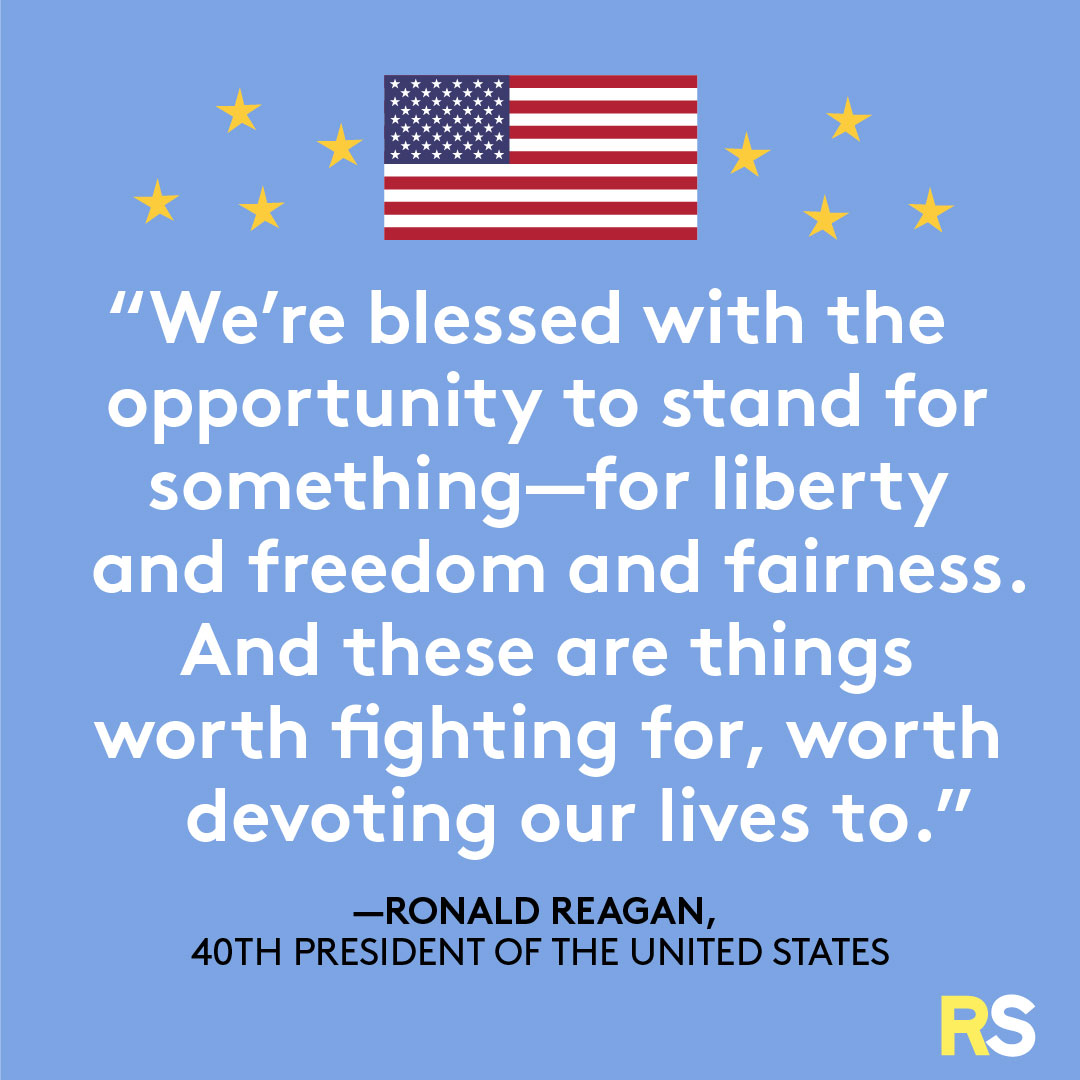 Fourth of July/July 4th Patriotic Quotes, Captions, and Sayings - Ronald Reagan