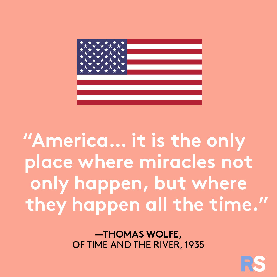 Fourth of July/July 4th Patriotic Quotes, Captions, and Sayings - Thomas Wolfe