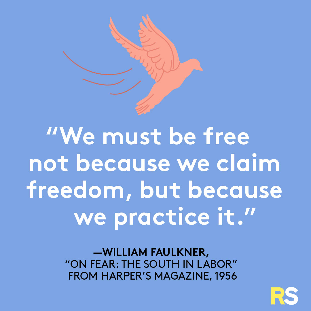 Fourth of July/July 4th Patriotic Quotes, Captions, and Sayings - William Faulkner