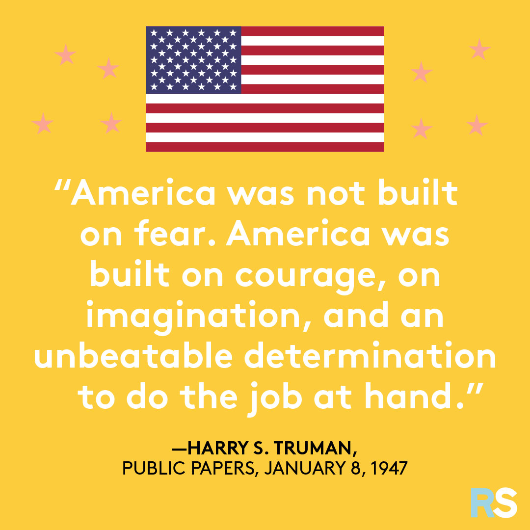 Fourth of July/July 4th Patriotic Quotes, Captions, and Sayings - Harry S. Truman
