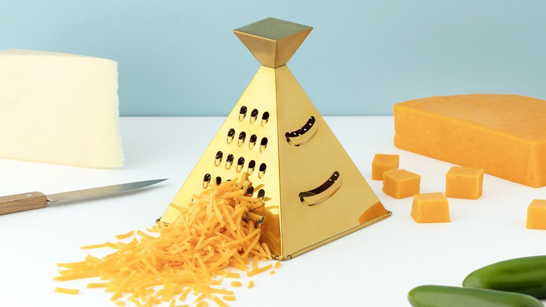 Hostess gifts and ideas - pyramid cheese grater