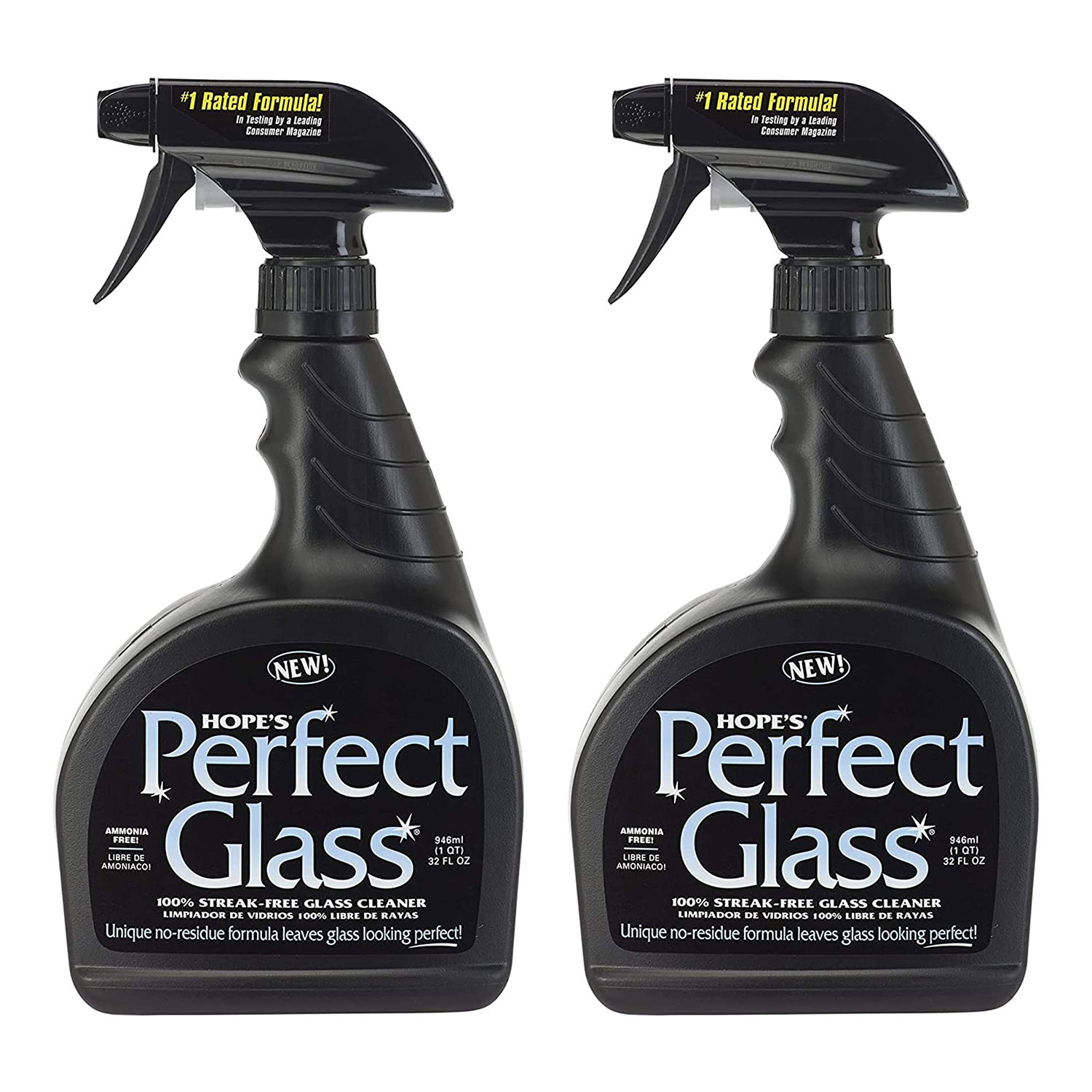HOPE'S Perfect Streak-Free Glass Cleaner, Less Wiping