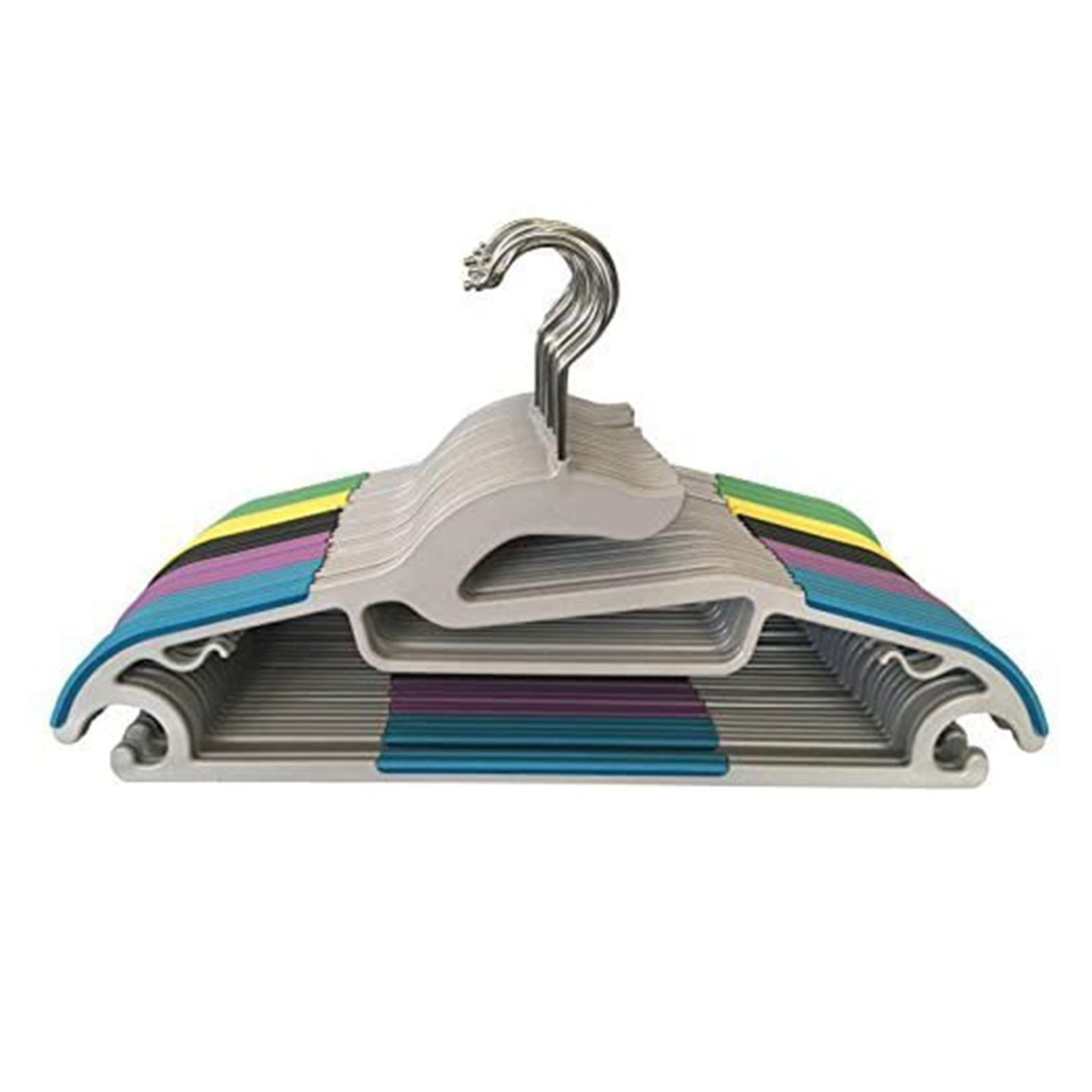 Jeronic 30 Pack Light-Weight Clothes Hangers Non-Slip Durable