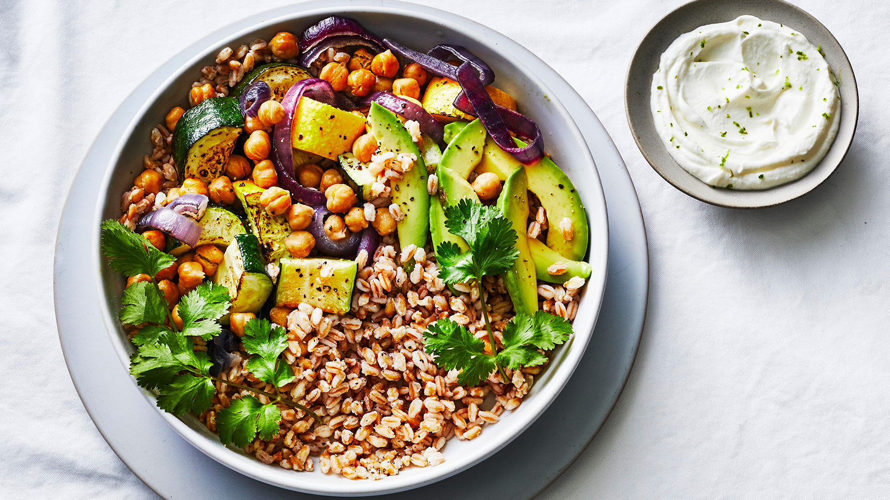 Summer Squash Farro Bowl Recipe