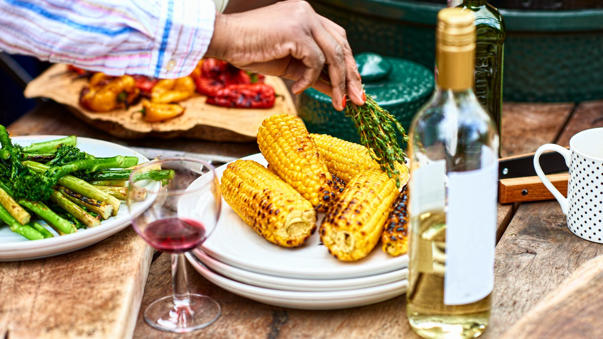 bbq and wine pairing: corn on the cob