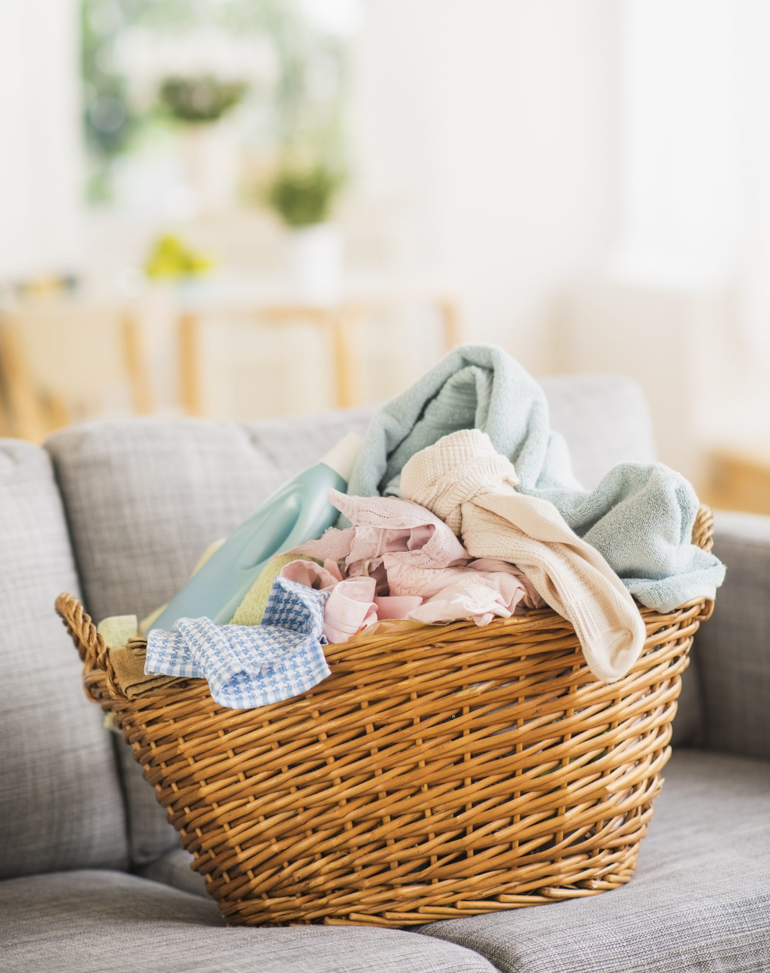 basket of clean laundry