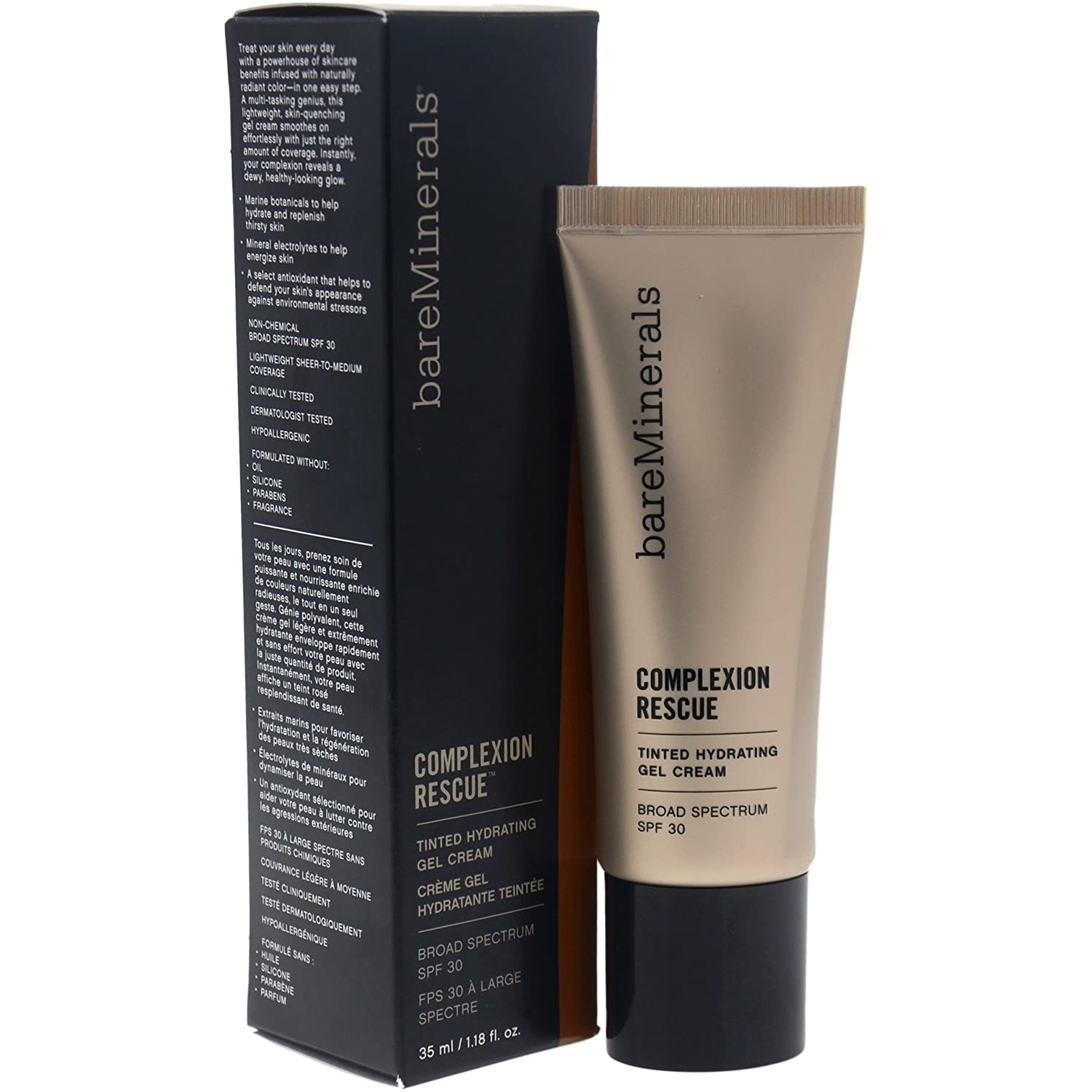 Best Budget Tinted Option: bareMinerals Complexion Rescue Tinted Hydrating Gel Cream SPF 30