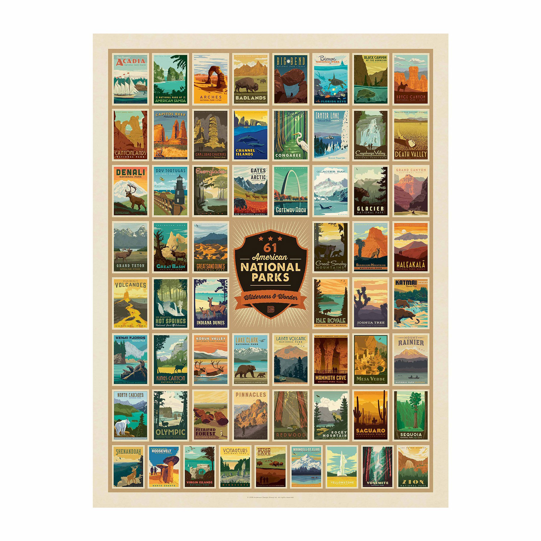 Father's Day gift ideas - Wilderness and wonder national park puzzle