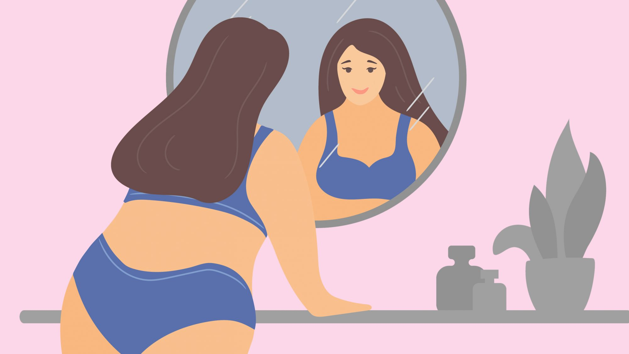 Health things to know about yourself - numbers to know (woman looking into mirror)
