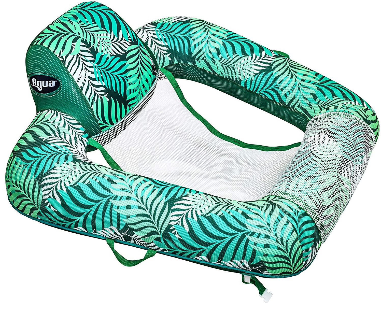 palm leaf print inflatable chair for pool