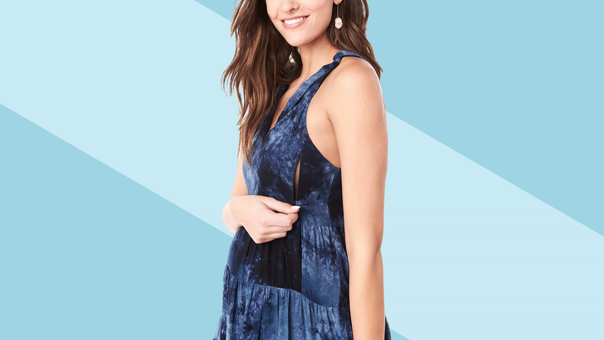 Zappos Maternity Section: woman in pregnancy dress