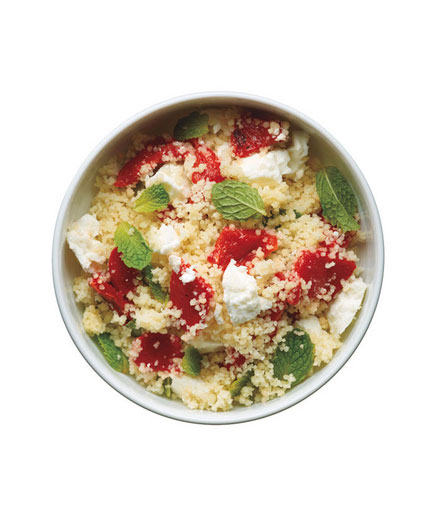 Sides for kebabs - Couscous salad with feta