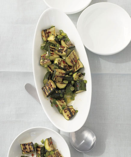 Sides for kebabs - Grilled zucchini