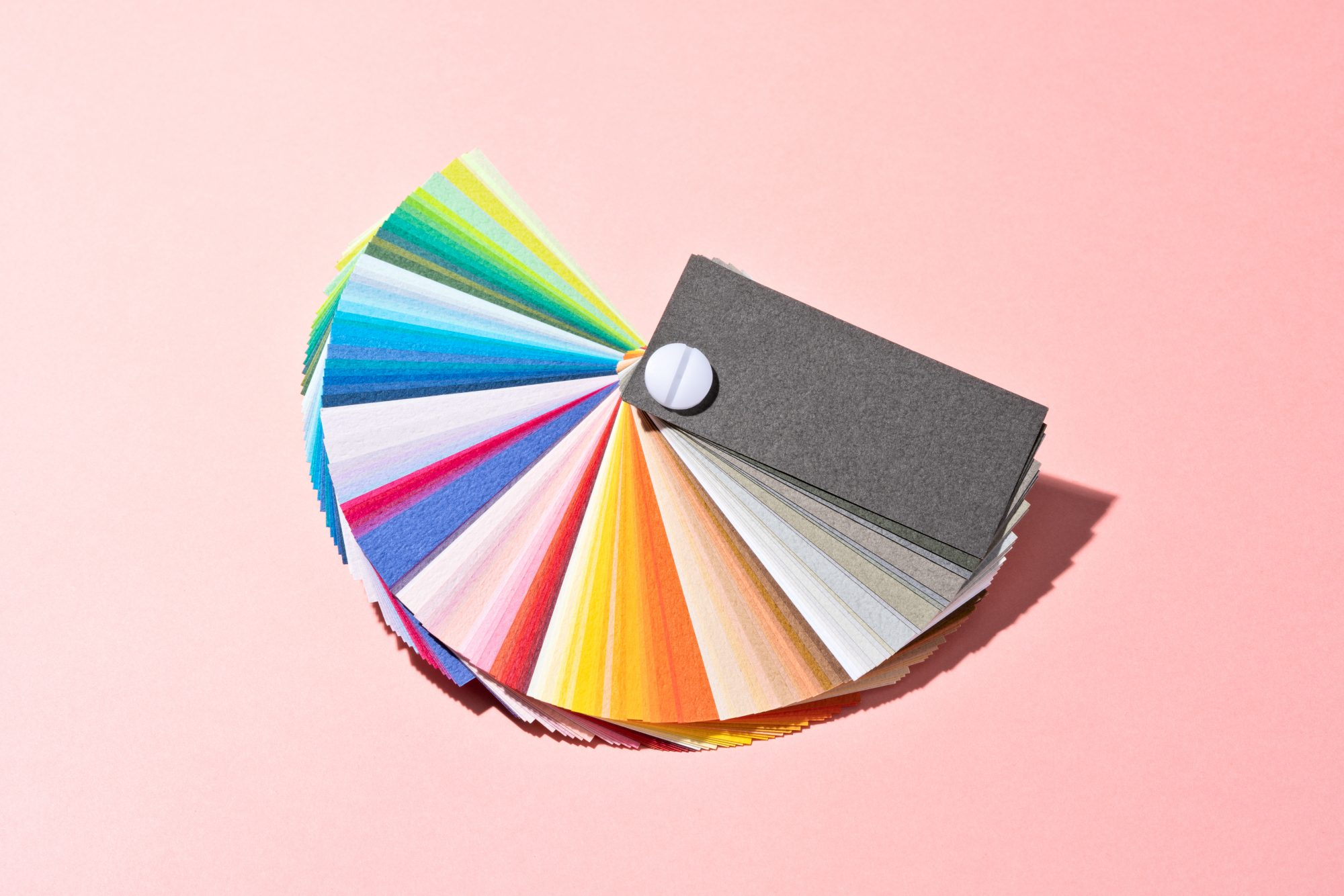 Deck of paint swatches