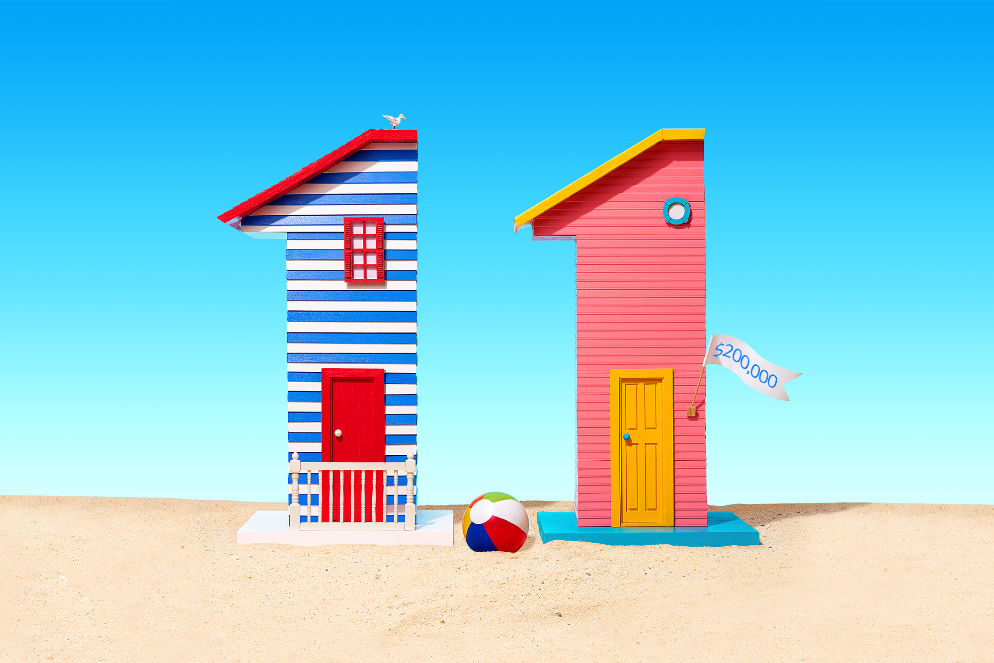 two beach house models