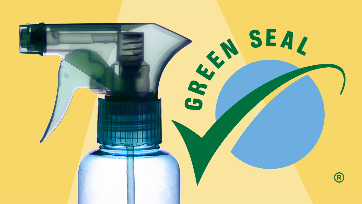 Green Cleaning Product Labels, spray bottle