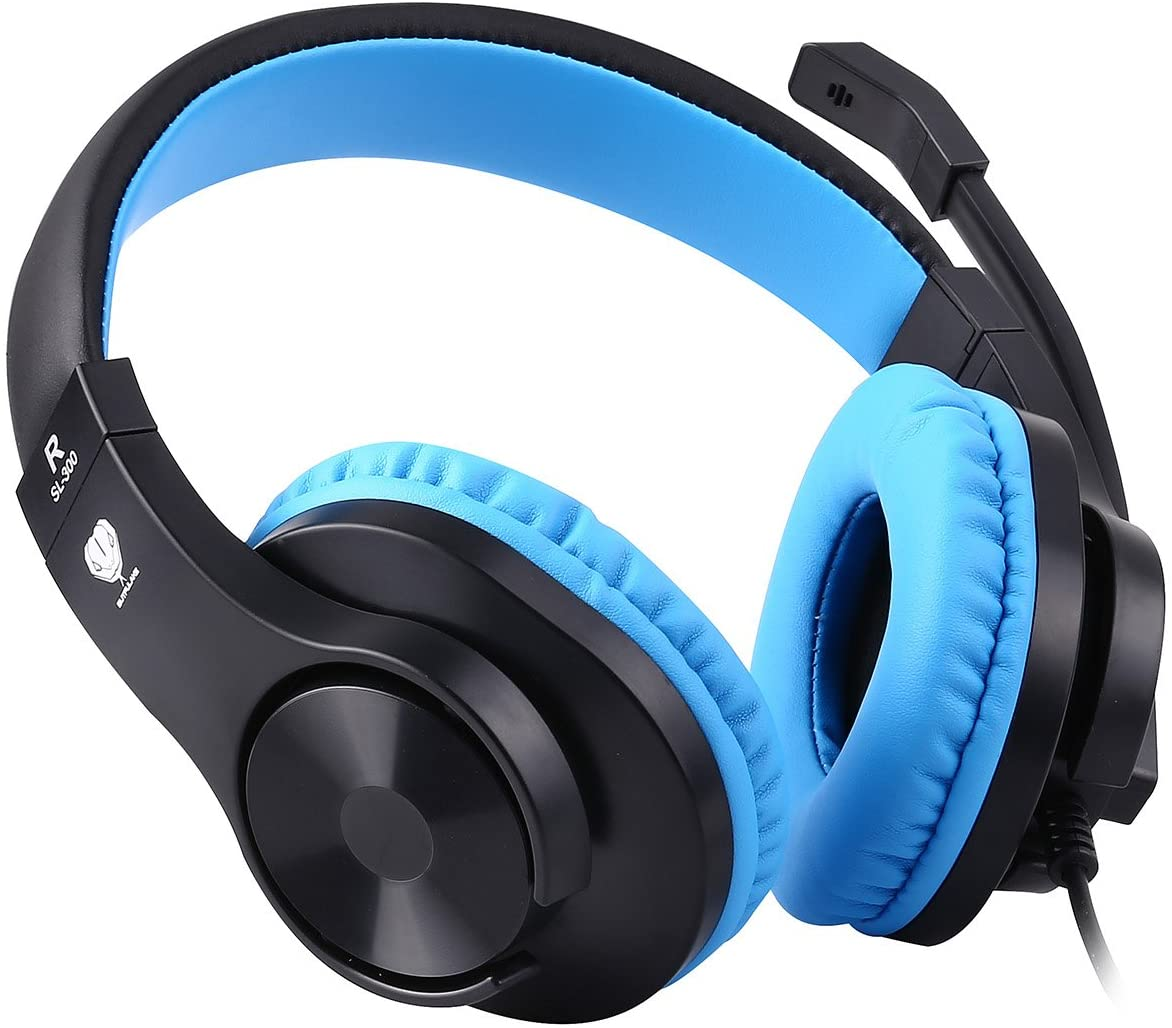 BlueFire 3.5mm PS4 Gaming Headset Bass Stereo Over-Ear Gaming Headphone with Microphone and Volume Control