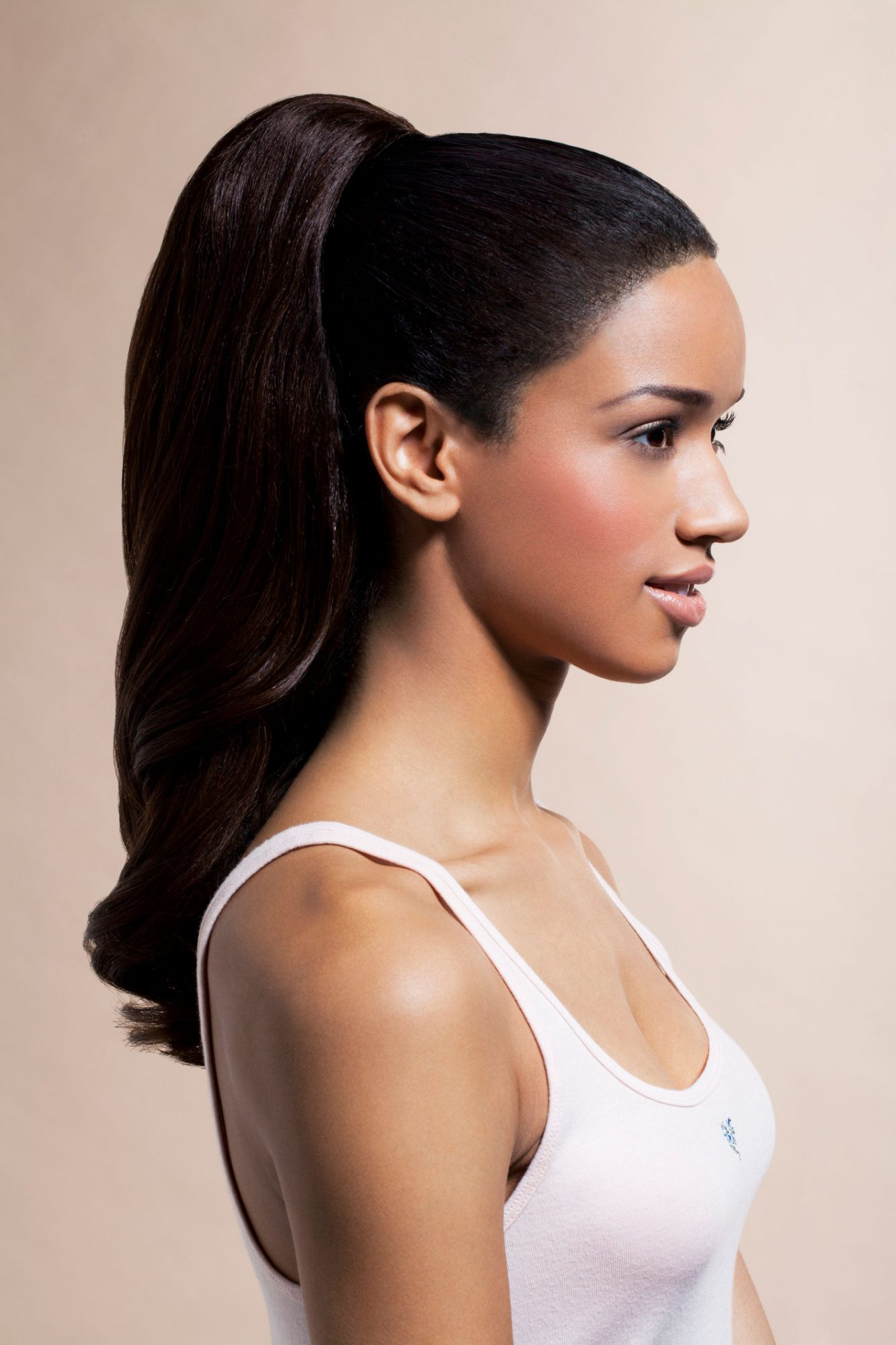 Cute hairstyles for school - slicked back high ponytail