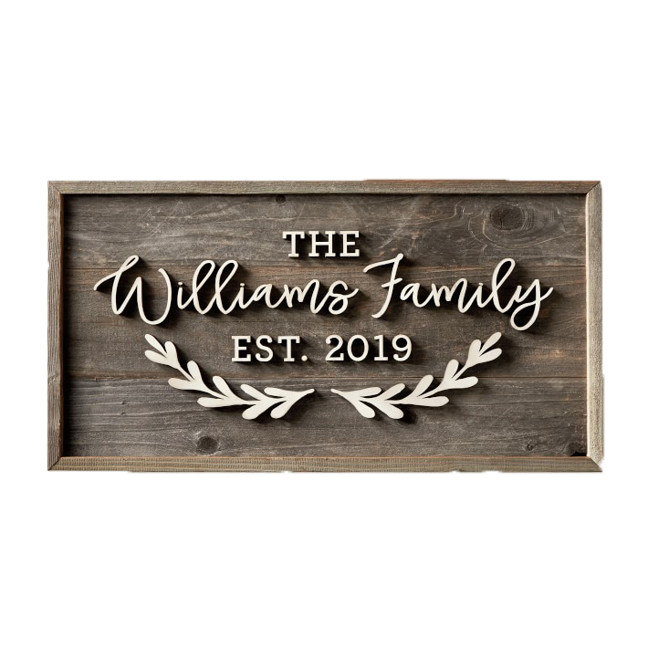 Best housewarming gifts - Unique, personalized family wall sign