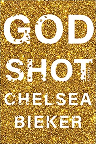 Godshot Book cover with gold glitter
