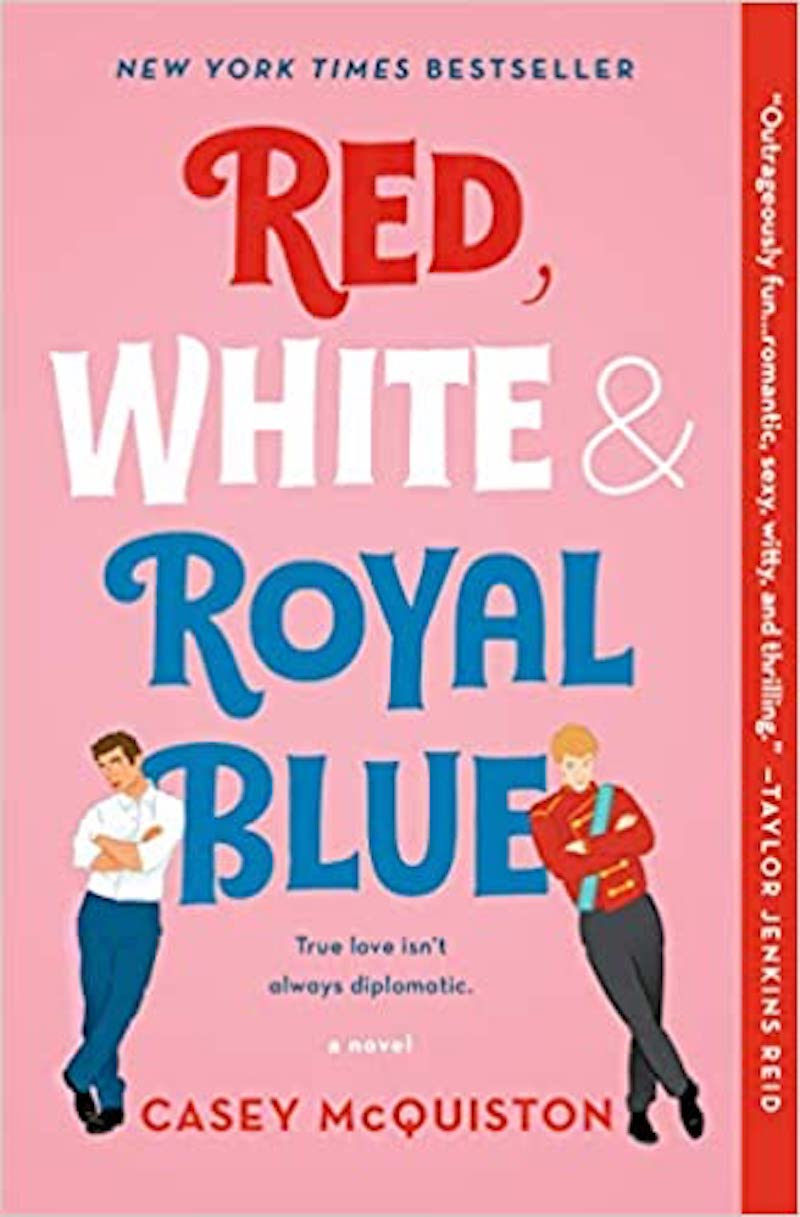 Book cover for Red, White, and Royal Blue