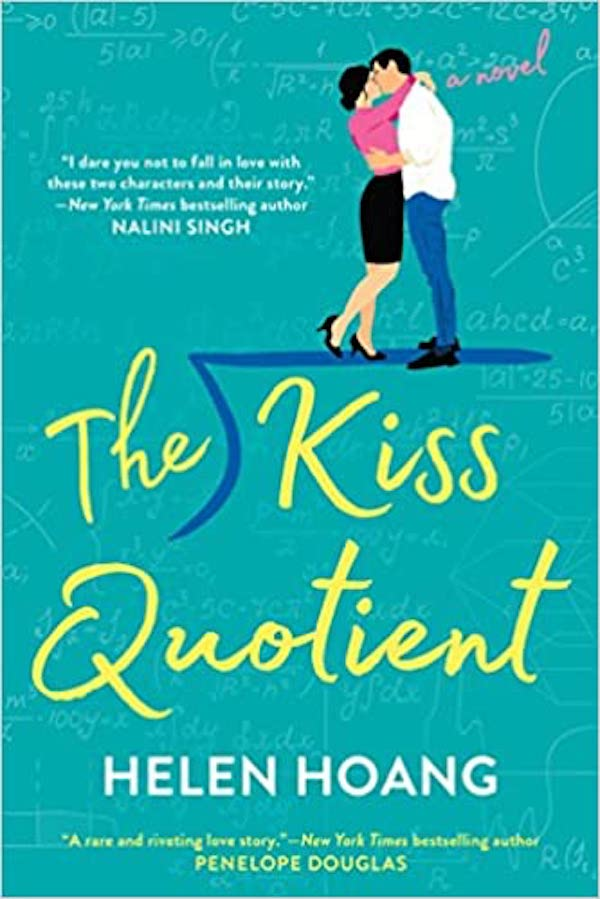 The Kiss Quotient Book cover with couple kissing