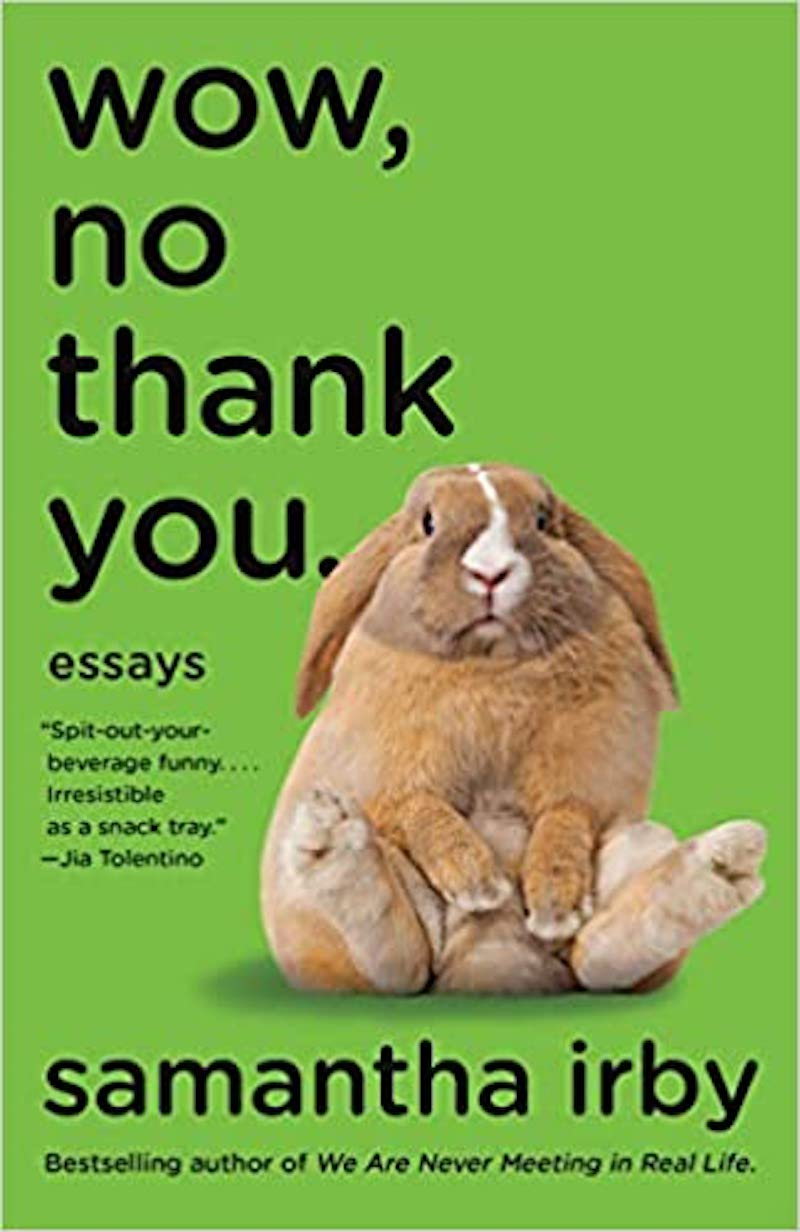 Wow, No Thank You Book cover with bunny