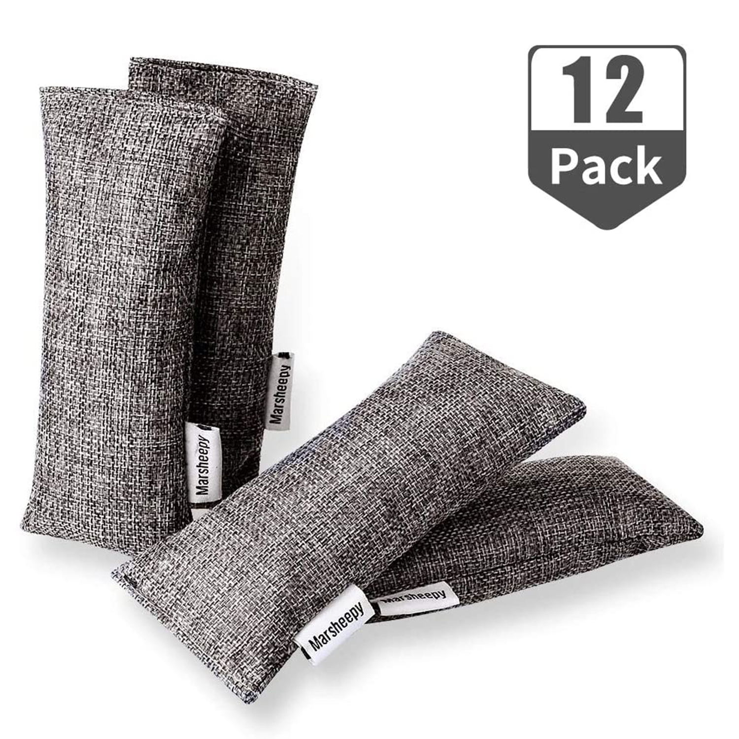 Marsheepy 12 Pack Bamboo Charcoal Bags and Charcoal Odor Absorber