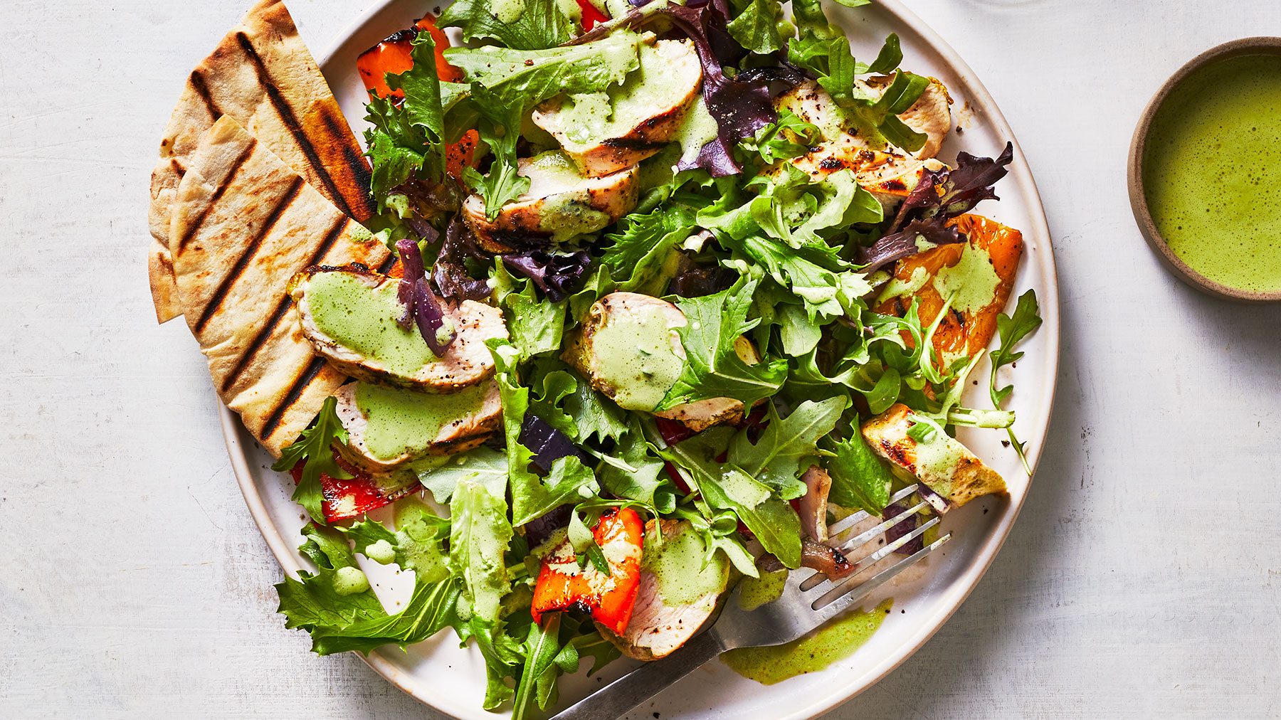 Grilled Chicken and Pepper Salad