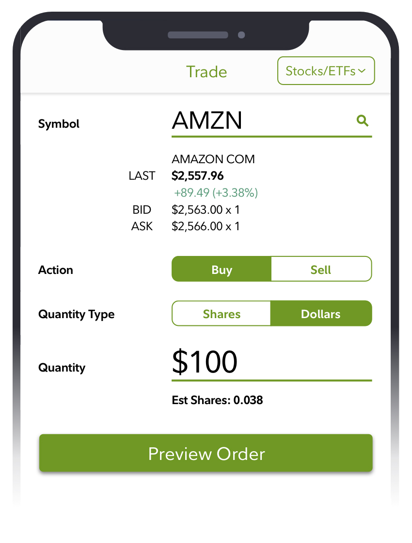 Best investment apps and services - Fidelity stocks by the slice