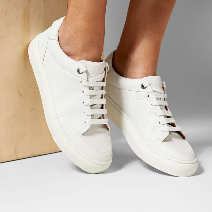 Ariat Two24 Penny sneakers in white on model
