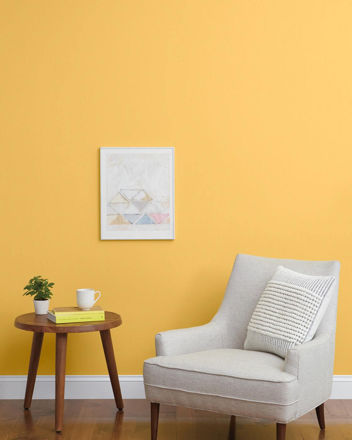 Rich gold paint color on wall