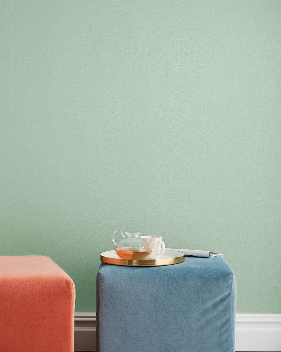 mint green paint color in room