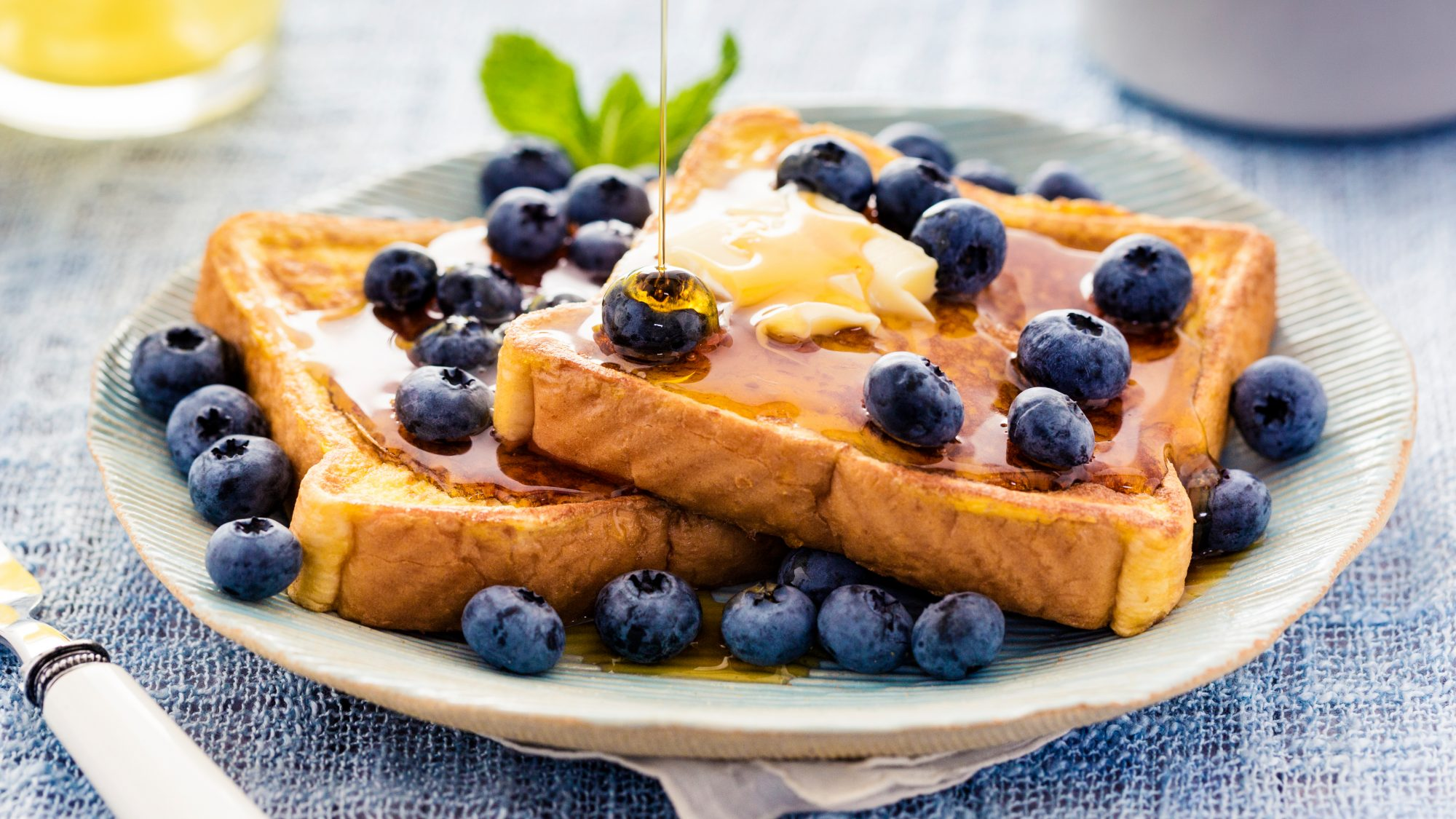 French toast made with ice cream base